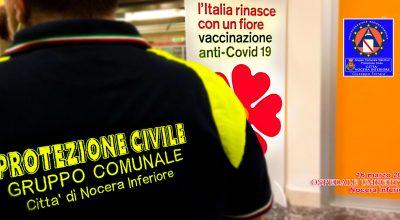 """Ieri completata la vaccinazione al Gruppo comunale volontari di Protezione civile """"Giuseppe Ferrara"""" Città di Nocera Inferiore"""